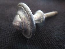 ancienne  poignée de meuble-tiroirs 1960 ronde en aluminium pointe de diamant