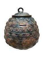 "Merritt Island Pottery Artist Signed Vessel Lid Melvin Casper Cookie Jar Urn 8"""