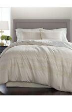 Martha Stewart Eyelet 8 Piece Queen Comforter Set Stripe Cotton Slates