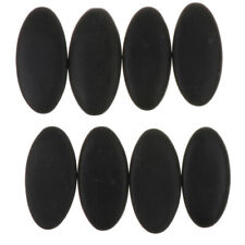 8Pieces Black Personal Spa Massage Energy Stones Hot Rocks Stones for Warmer