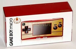 Boxed Nintendo Game Boy GBA Micro System Famicom Gameboy - 20th Anniversary Edit