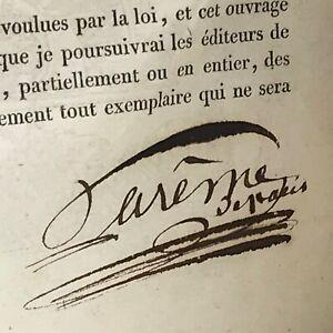 Édition Originale LE MAITRE D'HOTEL FRANÇAIS 1822 Antonin Careme PLANCHES Rare