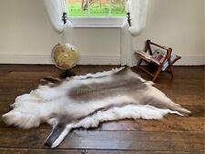 4.9 ft Reindeer rug fur skin pelt hide leather 100%Natural Cowhide Fallow Deer