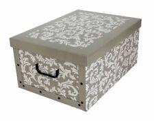 XL Dekokarton Karton Geschenkkarton Regal Box Schachtel Aufbewahrungsbox Beige