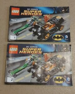 LEGO INSTRUCTION BOOKS ONLY Marvel DC Comics Superheroes 76012 Part 1 And 2
