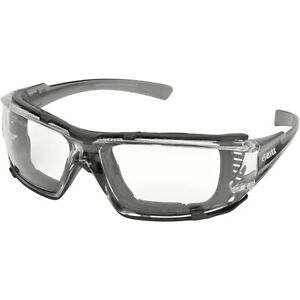 Delta Plus Go Specs IV Safety Glasses Clear A/F Dark Gray Temples GG-16C-AF