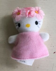 """Hello Kitty In Pink 2.5"""" Tiny Plush By Sanrio 2001"""