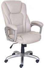 Serta Big and Tall Office CHAIR With Memory Foam UP TO 350 LBS WHITE/OFF- WHITE