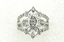 NEW 1/2 ct DIAMOND Cluster Cocktail Ring REAL SOLID 10 kw Gold 5.1 g Size 6.75