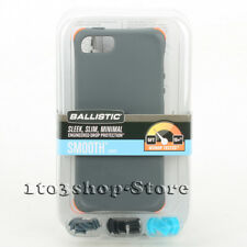 Ballistic LS Smooth TPU Gel Case w/Color Bumpers for iPhone 5 iPhone SE 5s Gray