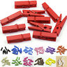 20x Mini Wooden Craft Pegs / Photo Clips, 35mm choose colour ft