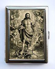 Allegory of Death Christ Skeleton Cigarette Case Wallet Business Card Holder
