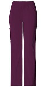 Cherokee Women Size XL Flexibles Mid-Rise Pull On Scrub Pants 2004 Wine NWT