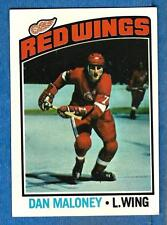 1976-77 Topps DAN MALONEY (ex) Detroit Red Wings