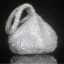 Triangle Full Rhinestones Women's Evening Clutch Bag Party Prom Wedding Purse