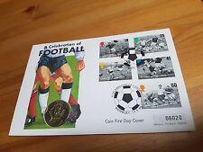 1996 EURO CALCIO FIOR DI CONIO Due Pound £ 2 Coin Primo giorno di copertura