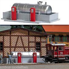 Busch 1158 h0, gasolinera para explotación ferroviaria obra, Kit, nuevo