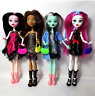 Monster High Draculaura Doll Lot Set 4Pcs Dolls Lagoona Wolf Mattel Clothes Gift