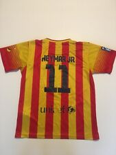 Neymar 11 Barcelona 2013/14 Away Shirt Size Large Boys
