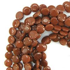 "12mm goldstone coin beads 16"" strand"