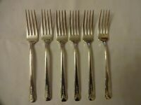 "Vintage Community Plate ONEIDA ""Clarion"" x 6 Silver plated Dessert Forks 18 cm"