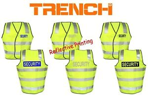 """2 PCS - Hi-Vis Safety Vest - Back Tail Style With Printed """"SECURITY"""""""