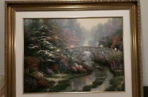 "Thomas Kinkade Stillwater Bridge Lithograph Limited Edition,  18x24"""