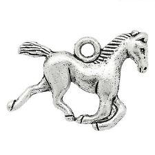 10 x Tibetan Silver 3d Horse Pendant Charms 15mm