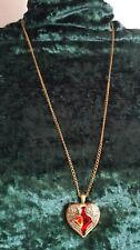 Damen Halskette Lang mit Sumni Herz Anhänger Modeschmuck Kette Accessoire