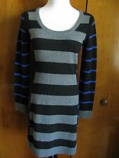 Aqua Women's Black Combo Cashmere Mini Dress size Small New