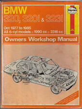 BMW 320, 320i & 323i Oct 1977-85 Haynes Owners Workshop Manual All 6-cyl models