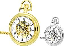 Stuhrling 6053 Men'S Vintage механический скелет из нержавеющей стали карманные часы