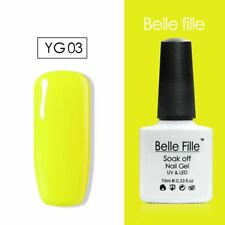 BELLE FILLE 10ml Neon Color UV Gel Nail Polish Lacquer Varnish Soak-off Manicure