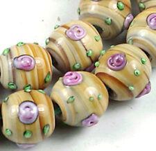 Lampwork Glass Woodland Rose Round Beads 12mm