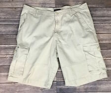 RIO by Merrill & Forbes Men's Cargo Shorts - Beige - Flat Front - Size 40