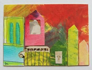 """""""A Normal Day"""" Original Art Collage Pop Surrealism Photo Mixed Media ACEO"""