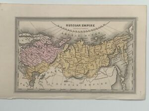 1834 RUSSIAN EMPIRE HAND COLOURED ANTIQUE MAP BY CARY & LEA 186 YEARS OLD