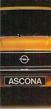 Opel Ascona B 1975-76 UK Market Launch Foldout Sales Brochure De Luxe SR