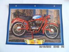 CARTE FICHE MOTO FOLLIS G 30   1957