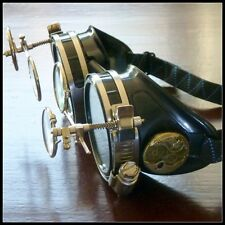 Steampunk goggles glasses welding cyber diesel punk biker gothic rave cosplay
