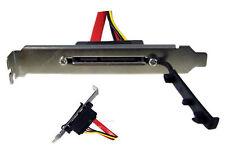 SATA Serial ATA Power & Data Backplate Combo - External S-ATA   E1111