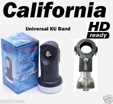Universal Single Ku Band LNBF 0.2dB FTA Satellite Dish Liner+LNB Bracket Holder