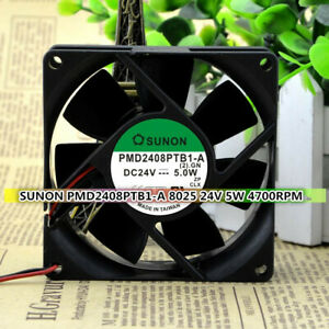 SUNON PMD2408PTB1-A 8025 24V 5W 2-wire double ball large air volume inverter fan