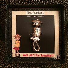 Mary Engelbreit Sterling Silver Toy Charms Pin - Well, Ain't You Somethin'?! Nib