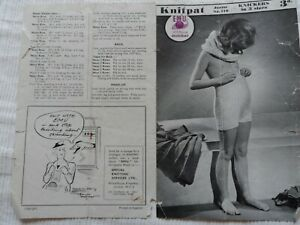 Original 1940's Knitting Pattern Girl's Knickers Emu Knitpat 410 Free P & P