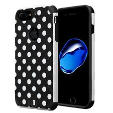 Hybrid Layer Armor Combat Case for iPhone 7 Plus / 6 Plus / 6s Plus - Polka Dot