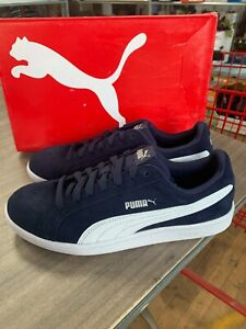 NEW Men's Puma Suede Smash Casual Athletic Sneakers Navy Pick Size