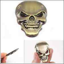 Car suv C-Pillar Fenders Tank Cove Bronzed Metal Skull Head Emblem Sticker Badge