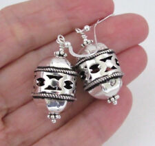 BOLD STERLING SILVER EARRINGS Moroccan Design Large Chandelier Dangle STATEMENT