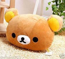 Hot Rilakkuma San-X Relax Bear Head Plush 2in1 Cushion Pillow ~Brown~ kids gift